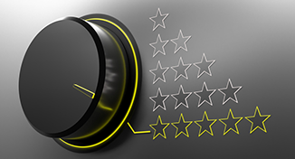 Image of Turning dial pointing to 5 stars